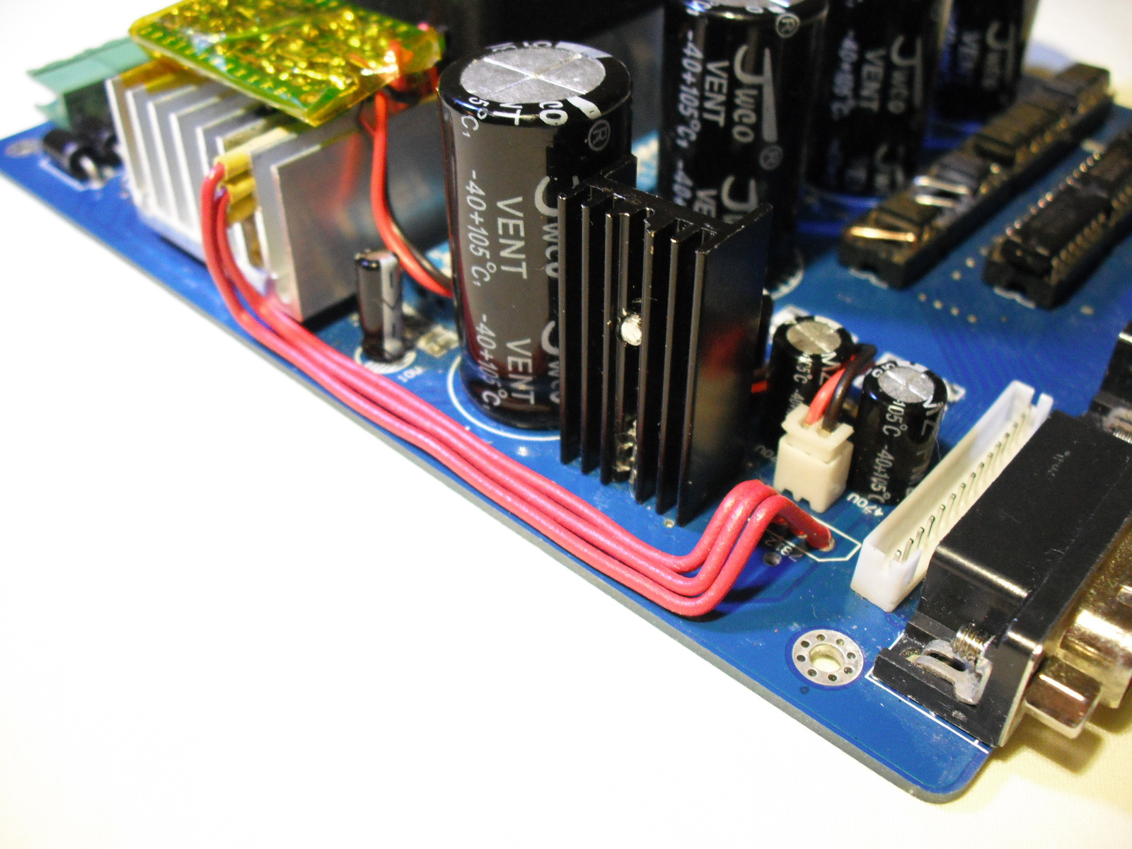 English Electronic Tips Hints The Resistor Is On Left Side Of Board Close To Heat Sink 7812 Was Moved From Its Original Position Be Inserted In Between Two Fins