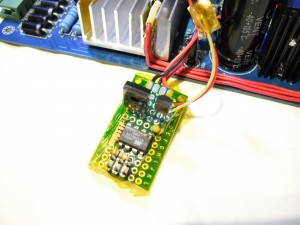 The control board. See the NTC at the right side, protected with kapton tape.